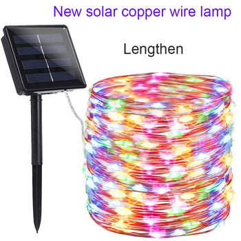 New year Solar Lamp LED Outdoor 10m/30mLED String Lights Fairy Holiday Christmas Party Garlands Solar Garden Waterproof Lights