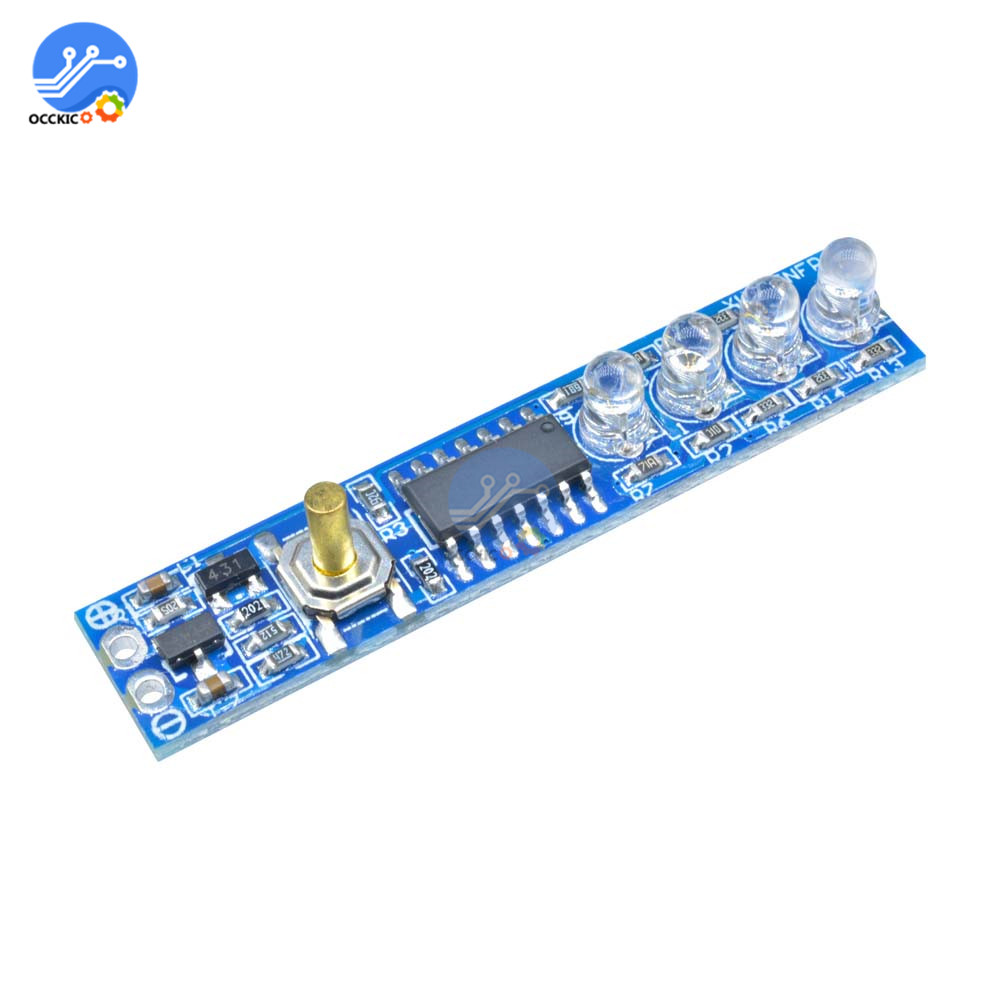 Bms 3S Lithium Battery Capacity Indicator Module 4 LED Display Board Power Level For 18650 Li-po Li-ion Lithium Battery
