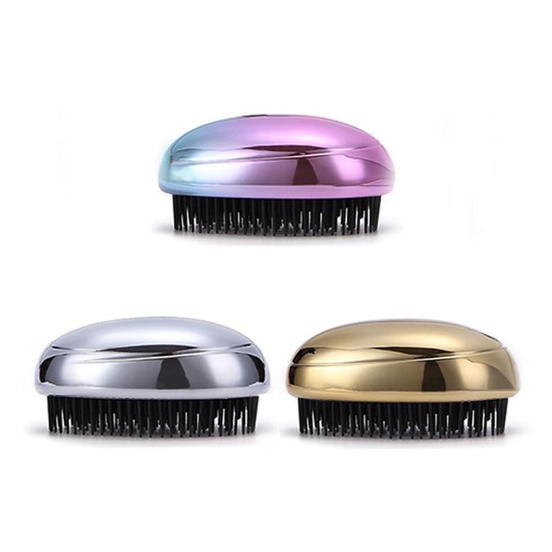 High Anti-static Hair Brush Comb Electroplate Detangling Head Massage Combs Tool KTC 66