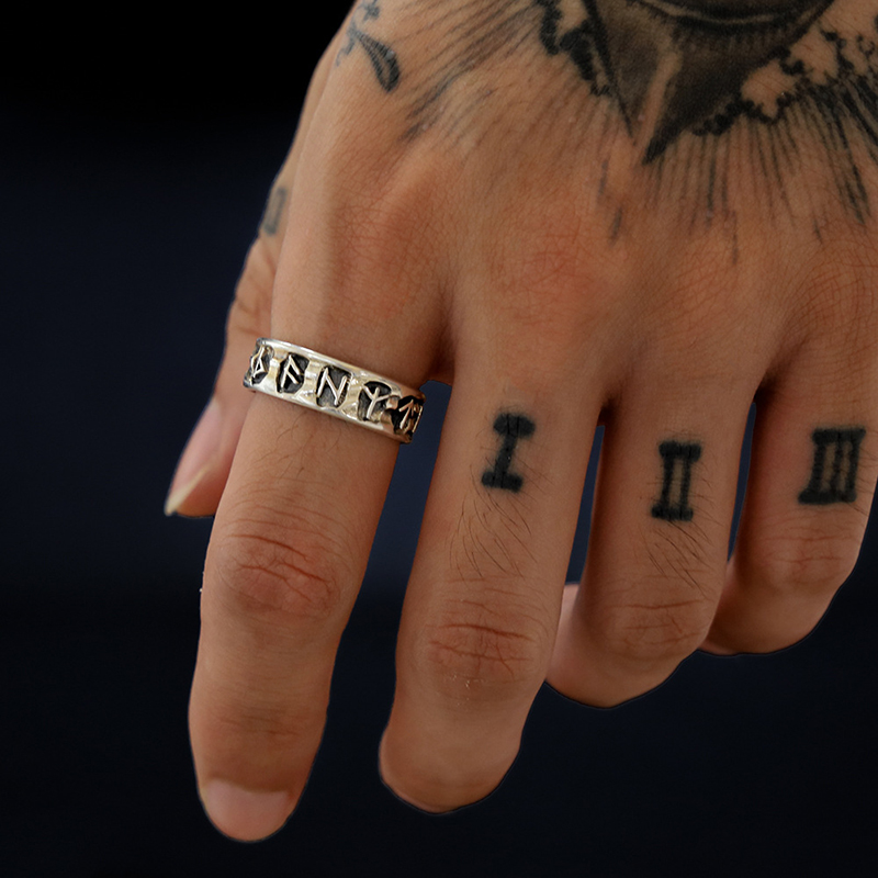 YOBEST PUNK Viking lucky rune European and American style ring for Men and Women fashion Jewelry