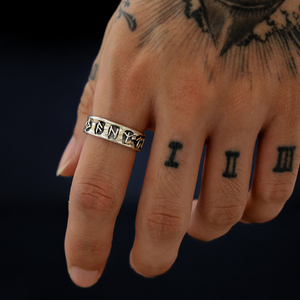 YOBEST PUNK Viking lucky rune European and American style ring for Men and Women fashion Jewelry(China)