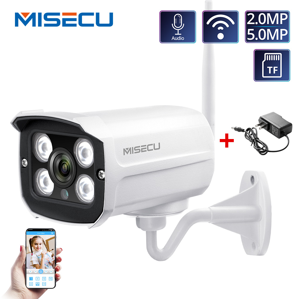 MISECU HD 1080P IP Camera Outdoor WiFi Home Security Camera 2MP 5MP Wireless Surveillance WiFi Bullet Waterproof IP Onvif Camara