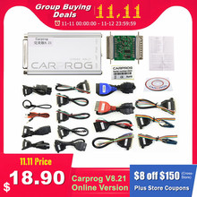 Carprog V8.21 Online V10.93 otomatik ECU Chip Tuning tam evrensel araba Prog onarım aracı Carprog 8.21 ücretsiz Keygen Online programcı
