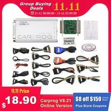 Carprog V8.21 Online V10.93 strojenie układu ECU w samochodzie pełne uniwersalne narzędzie do naprawy samochodu Prog Carprog 8.21 bezpłatny Keygen programator Online
