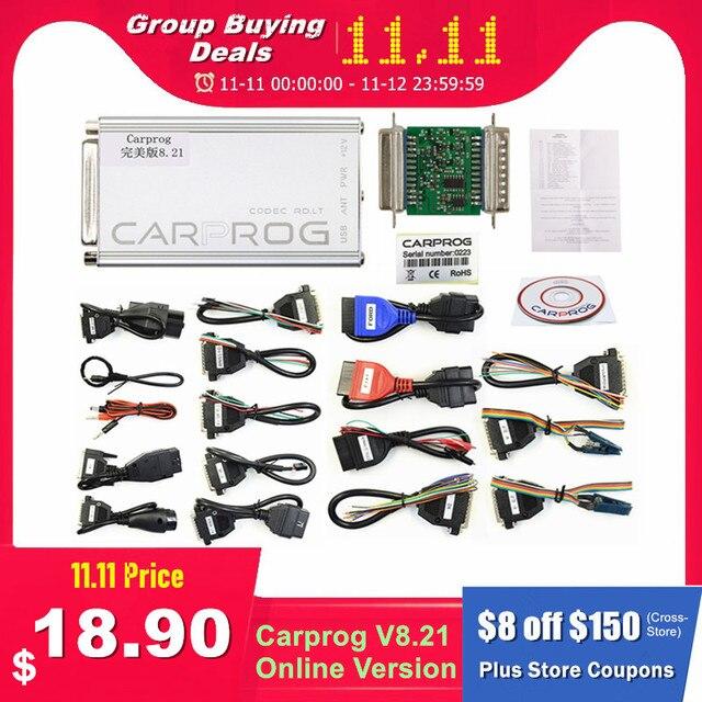 Автомобильный ECU чип Carprog V8.21 Online V10.93, полный универсальный инструмент для ремонта автомобиля, Carprog 8,21, Бесплатная клавиатура