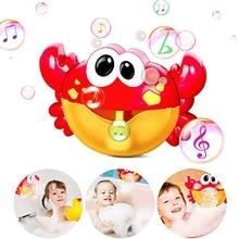 Outdoor Bubble Machine Crabs Frog Music Kids Bath Toys Bathtub Soap Automatic Bubble Maker Baby Bathroom Toy for kids Children