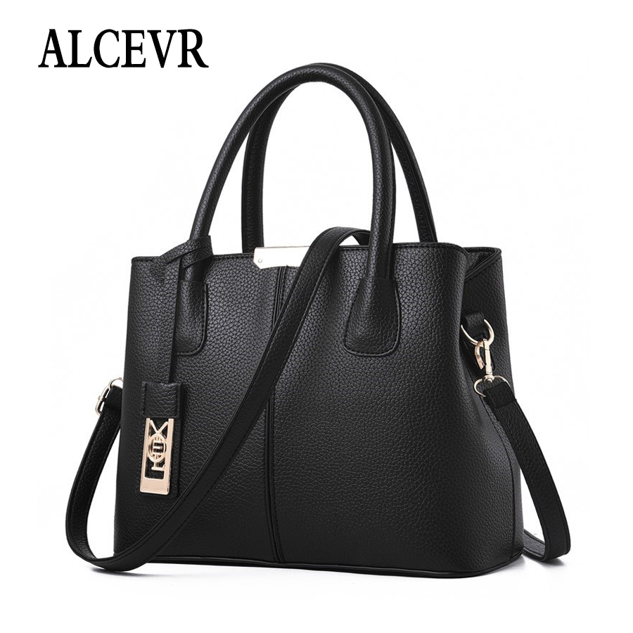 ALCEVR Sequined Hanging Solid Color Pu Leather Women Shoulder Bags Simple Style All-Match Female Crossbody Bag Fashion Handbag
