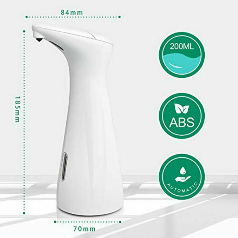 Waterproof and Washable 200ml Liquid Soap Dispensers with Smart Infrared Sensor for Kitchen and Bathroom Operated in Battery 5