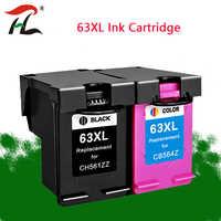 2PK 63XL cartucho hp 63 XL hp63 cartucho de tinta para hp Officejet 3830, 4650, 4652, 5220, 5230 envidia 4516 4512 impresora 4520