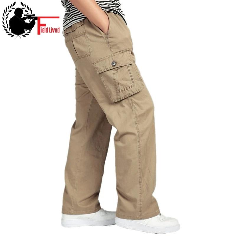 Xl 4xl 5xl 6xl Tallas Grandes Pantalones Cargo De Los Hombres Ocasionales Hombres Cintura Elastica Multi Bolsillo Militar General De Combate Masculino Largo Pantalon Cargo Joggers Multi Pocketmen Pants Aliexpress