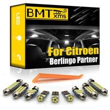 BMTxms – Kit d'éclairage intérieur pour voiture, pour citroën Berlingo, Peugeot Partner B9 K9 Tepee 1996-présent Canbus, carte dôme de coffre