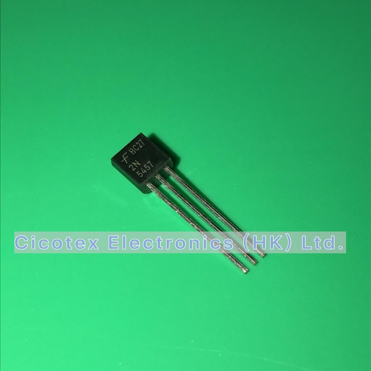 20pcs/lot 2N5457 TO92 2N 5457 JFET N-CH 25V 625MW TO92 2N5457G 2-N5457