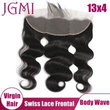 JGMI Body Wave Virgin Brazilian Human Hair 13x4 Lace Frontal for Women Natural Black Hair Extension Free Part
