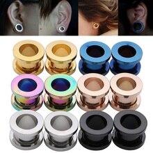 2pcs/lot Steel Ear Plugs and Tunnels Flesh Earring Piercings Lobe Piercing Gauge Expanders Body Jewelry
