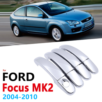 Chrome Handles Cover for Ford Focus MK2 MK2.5 2004~2010 Accessories Stickers Car Styling 2005 2006 2007 2008 2009 2010 image