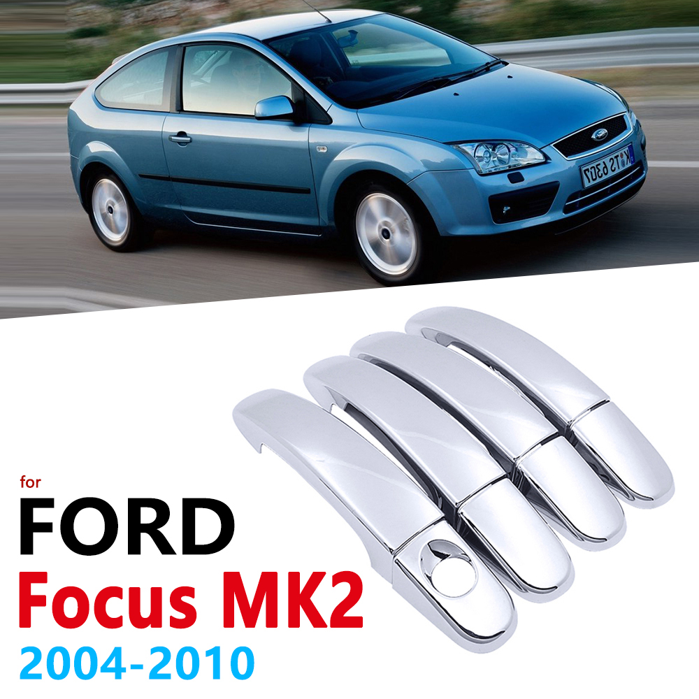 Chrome <font><b>Handles</b></font> Cover for <font><b>Ford</b></font> <font><b>Focus</b></font> MK2 MK2.5 2004~2010 Accessories Stickers Car Styling 2005 2006 2007 2008 2009 2010 image
