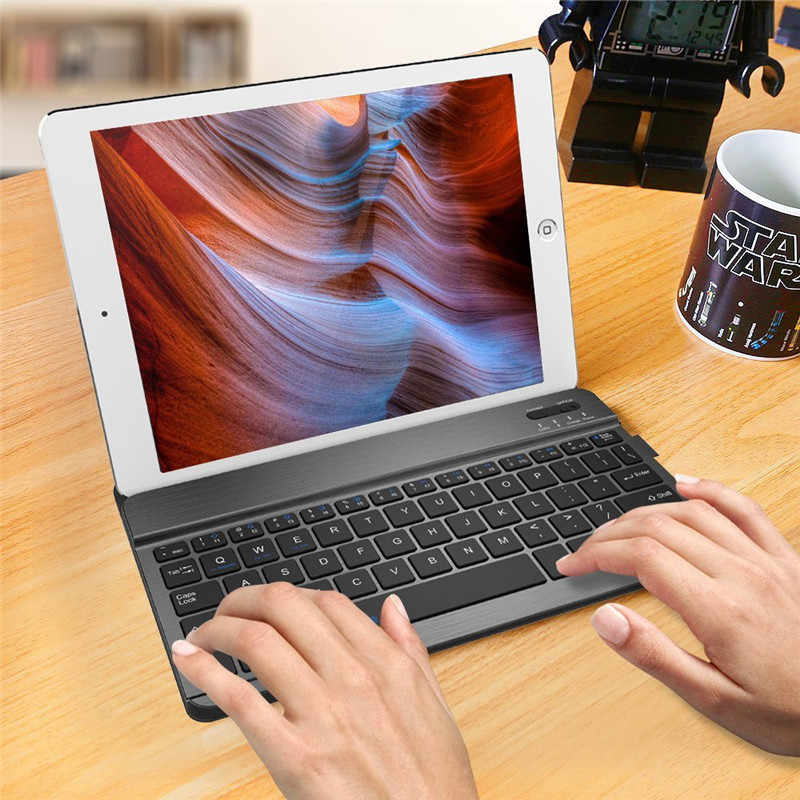 8 Inci Ultra Slim Wireless Bluetooth Keyboard untuk iPad Eksternal Pengisian Bluetooth Keyboard untuk Android Tablet PC Laptop