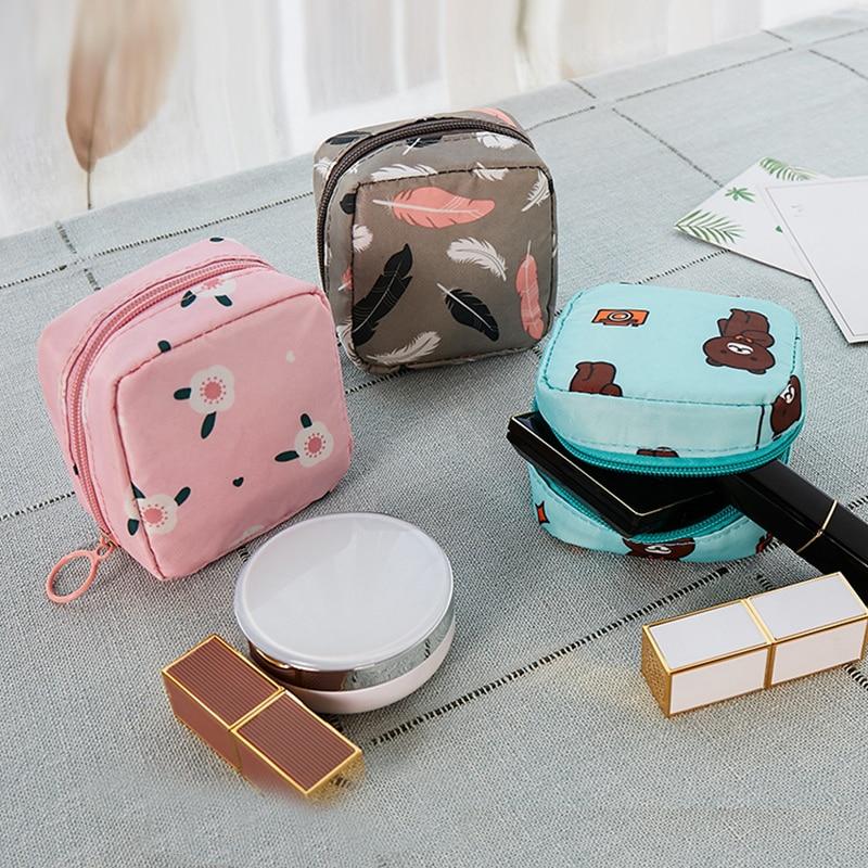 YBLNTEK Mini Cosmetic Bag Women Mini Makeup Lipstic Bags Travel Toiletry Storage Zipper Cosmetic Organizer Makeup Case Pouch