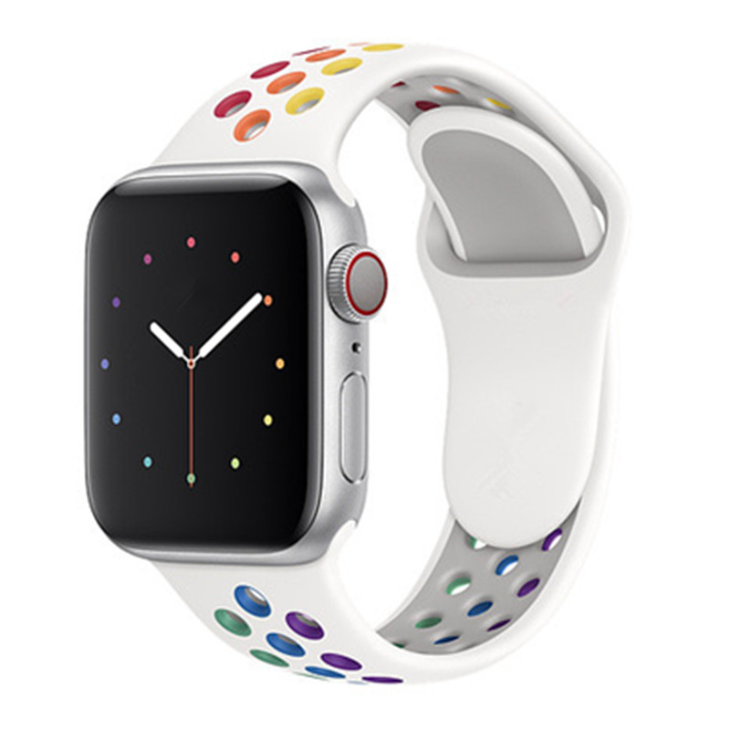 Pride Edition Sport  Strap For Apple Watch 5 44mm 40mm New Color Breathable Band  42mm 38mm Wristband For IWatch Series 3 2 1