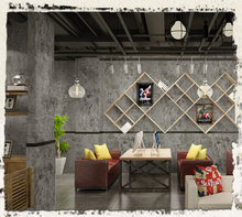 Grey Cement Wallpaper Industrial Wind PVC Self-adhesive Home Shop Decorative