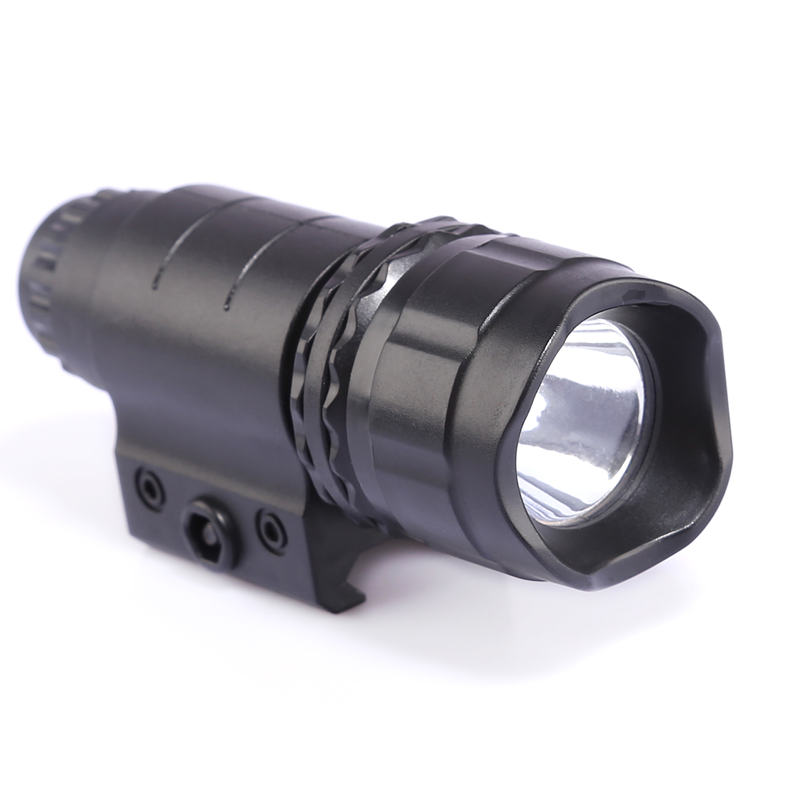 Plastic Tactical LED High Brightness White Light Flashlight For Nerf Toy Gun Black Front Tube Decoration For Jinming 8 Blaster