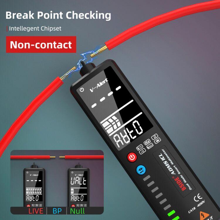 BSIDE 2,4 ''ЖК-детектор напряжения бесконтактная схема Вольт тестер ручка вольтметр NCV розетка прямая проверка провода Гц Ом непрерывность
