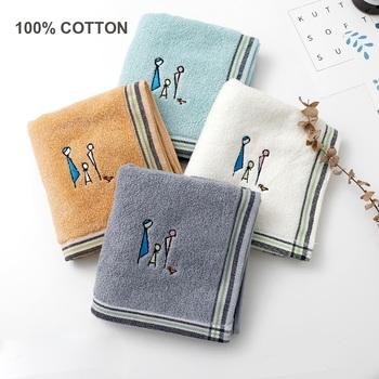3 sztuk zestaw 100 bawełniany ręcznik do twarzy miękki haftowany szybki ręczniki do osuszania włókno bawełniane naturalny ekologiczny prezent można prać w pralce tanie i dobre opinie Zestaw ręczników Skośnym Bawełna czesana Prostokąt 440g FC-CMTZUMJ 5 s-10 s List 100 bawełna Haftowane