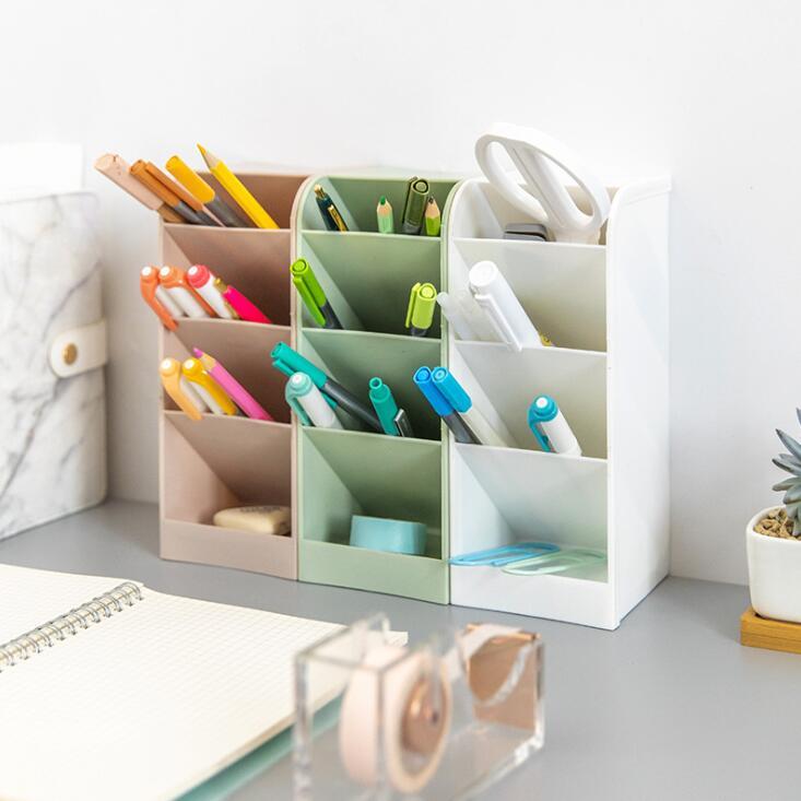 Large Capacity Desk Pen Holder   Storage Box Desktop Organizer Stand Case  3