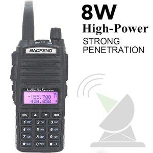 Image 3 - الأصلي BaoFeng UV 82 لاسلكي تخاطب 5 واط 128Ch المزدوج الفرقة VHF UHF 136 174 ميجا هرتز 400 520 ميجا هرتز المحمولة Baofeng UV82 هام راديو Baofeng 82