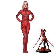 Cosplay Zentai Darth Talon Star Jumpsuits Outfit Halloween Anime Superhero Movie Fancy