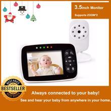 Новейший детский монитор, 3,5 дюймовый ЖК-экран, камера ночного видения для младенцев, двухстороннее аудио, датчик температуры, Эко режим, колыбельные