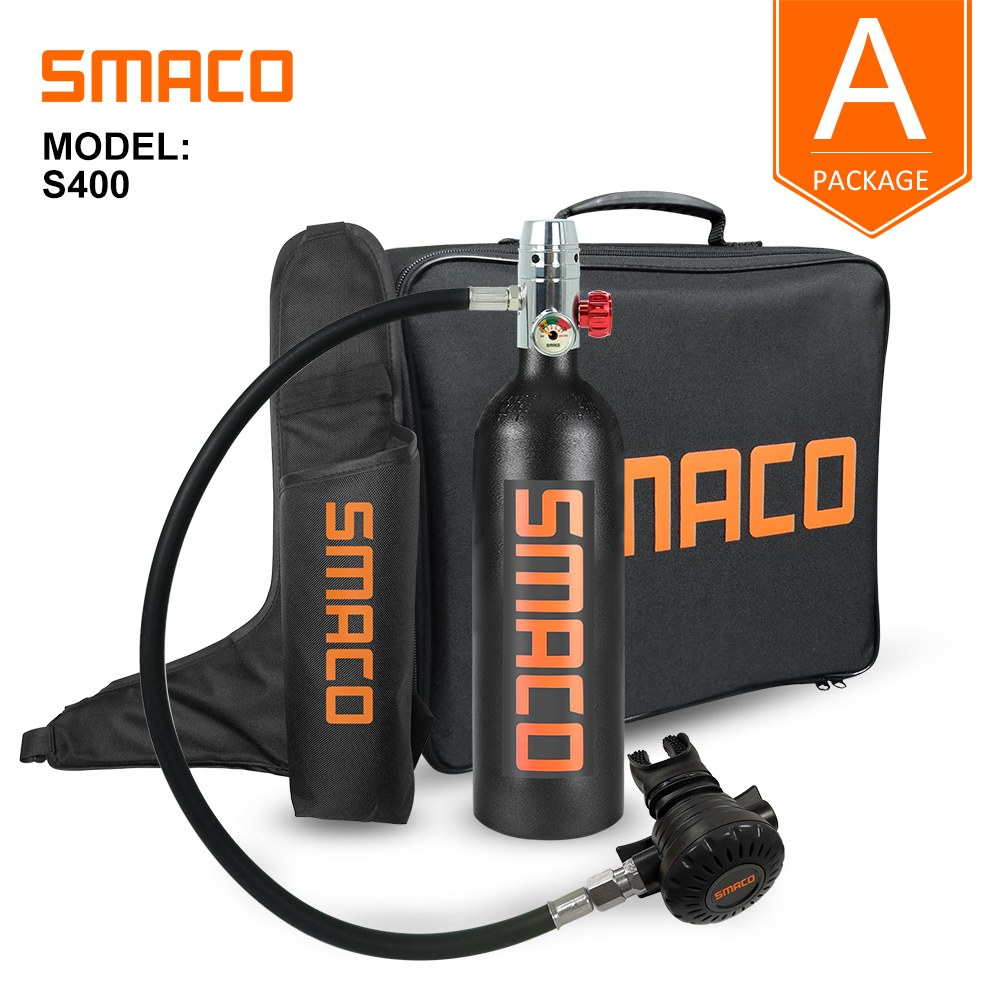 Scuba Diving Equipment Kit 1L Air Tank Underwater Breathing Upgrade SMACO S400