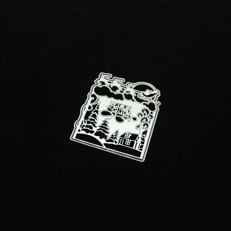 Дом город границы кружева металлические режущие штампы для DIY скрапбукинга фотоальбом декоративное тиснение бумажные карты ремесла высечки
