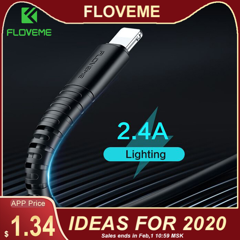 FLOVEME For Lighting Cable USB Charger Cord Hi Tensile USB Cable Charging For Apple iPhone Xs Max XR X 7 6 s 6s Plus Short Wire-in Mobile Phone Cables from Cellphones & Telecommunications on AliExpress