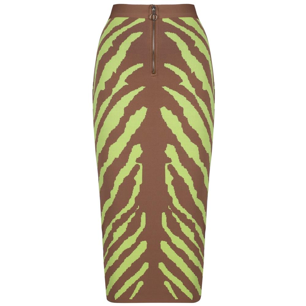 Ultimate SaleœOcstrade Bandage Skirt Lime Midi Zebra-Print Bodycon Long Fashion Women Club New-Arrivalδ