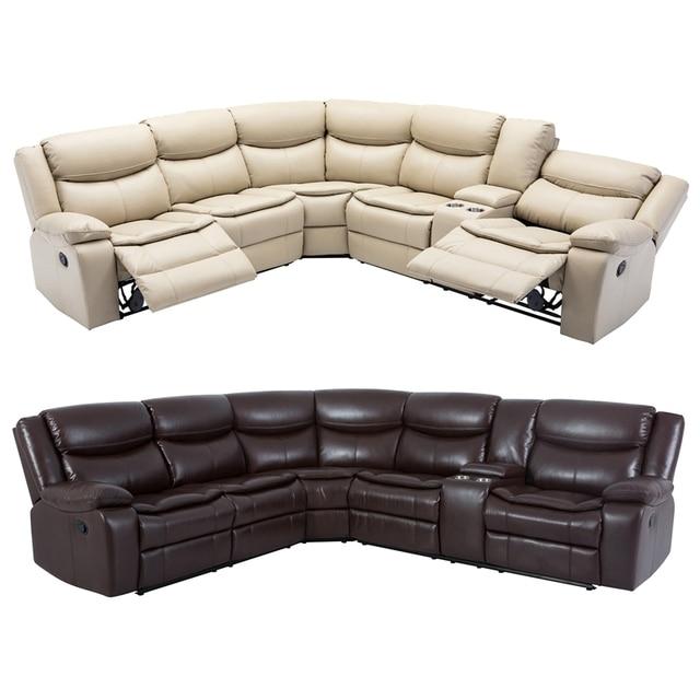 Manual Reclining Sectional Sofa Set  2