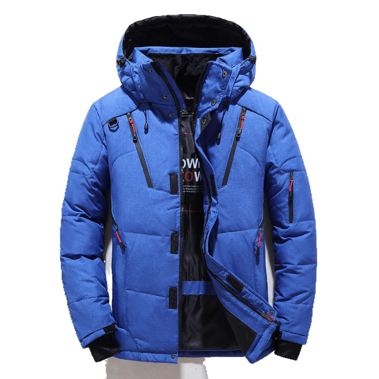 Man Down Jacket Parka Fashion Windbreaker Mens Overcoat Thick Warm Winter Coat Men Hooded Casual Outdoor