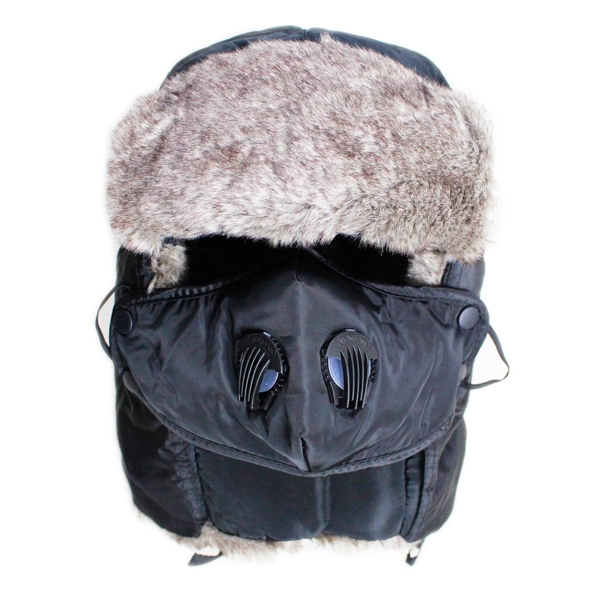 Zimní dámské pánské bombardérské klobouky kožešinové uši - Příslušenství pro oděvy