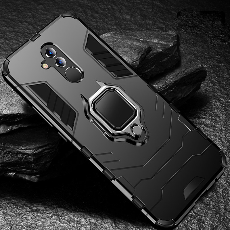 Mate 20 Lite сверхмощный армированный металлический чехол с кольцом и защитой от падения для Huawei Mate 20 Lite фотографический телефон