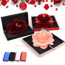 Creative Rose Ring Boxes Surprise 3D Pop Up Ring Box Wedding