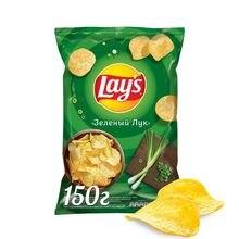 Чипсы Lay's зеленый лук, 150 г