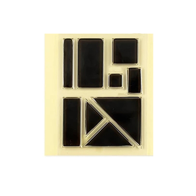 clear stamp  3x4in