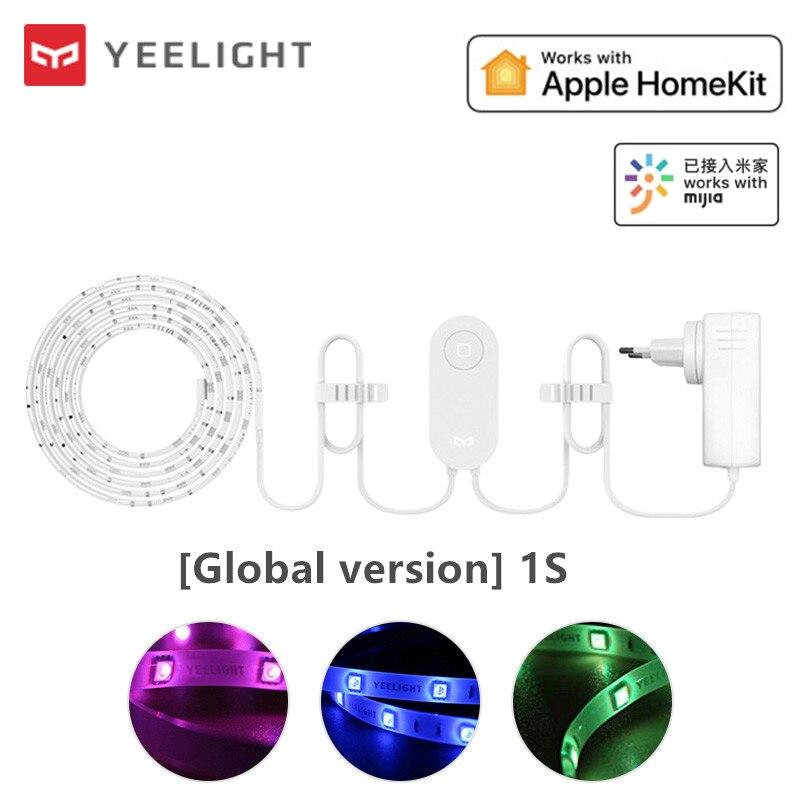 2020 Yee светильник вая лента 1S светодиодсветодиодный цветная 2 м интеллектуальная светильник вая лента RGB Выдвижная до 10 м умный дом Wi-Fi пульт д...