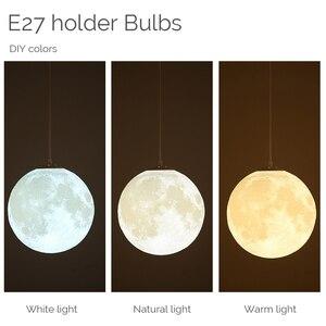 Image 4 - Wisiorek z księżycem światła Globe nocna klosz do lampy wystrój sypialni chambre fille bebe Creche żyrandol dzieci Planetarium dzieci pokój