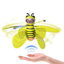 Funny Toy Little Bee Induction Aircraft Gesture Sensing Flying suspension Mini LED Light Infrared