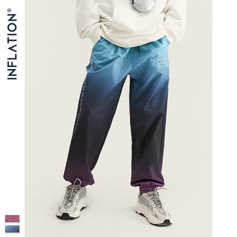 Image 4 - INFLATION 2019 FW Men Die Dye Cargo Pants Loose Fit Men Thin  Cargo Pants Elastic Waist Men Streetwear Tie Dye Pants 93420WHarem  Pants