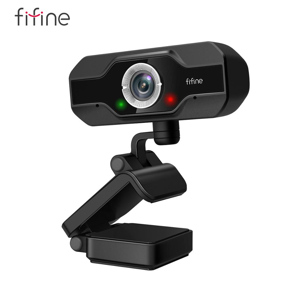 Веб-камера FIFINE 1080P Full HD для ПК, для настольного ПК и ноутбука, веб-камера для прямой трансляции с микрофоном, HD-видео, для детской видеосъемки