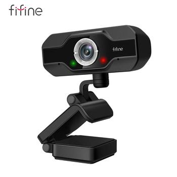 FIFINE 1080P Full HD PC Webcam for USB Desktop & Laptop , Live Streaming Webcam with Microphone HD Video,for Video Calling-K423