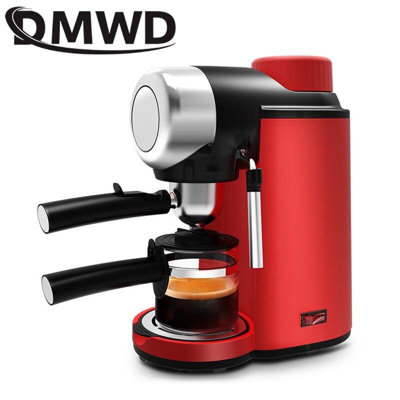 DMWD Итальянская Кофеварка для эспрессо 240 мл 5 бар давление полуавтоматическая Личная кофеварка с капучино молочной пеной EU