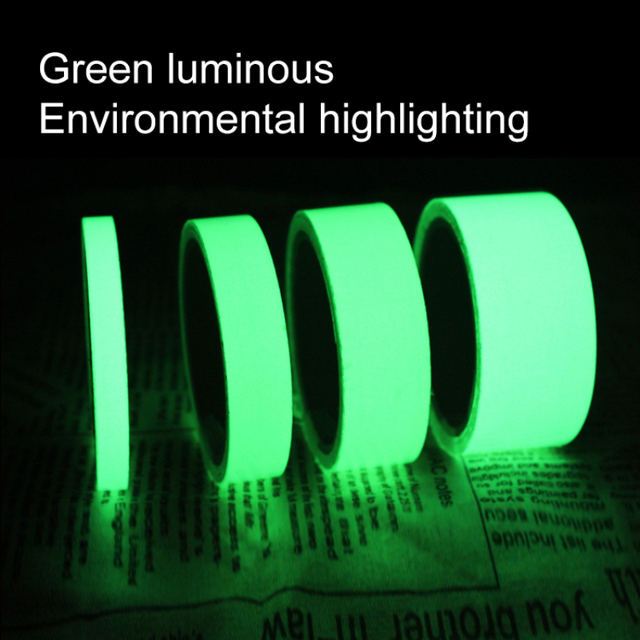 1cm X 1M Luminous Fluorescent Night Self-adhesive Glow In The Dark Sticker Tape Safety Security Home Decoration Warning Tape 2